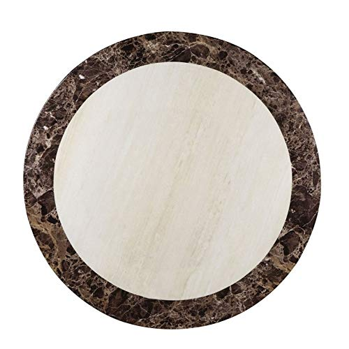 Furniture of America Fleur Faux Marble Tabletop Counter Height Dining Table