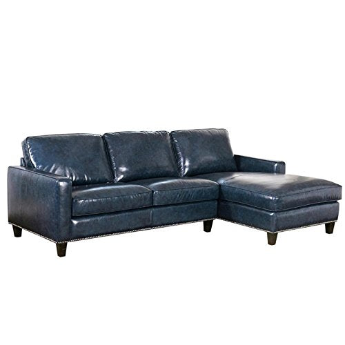 Abbyson Dregado Top Grain Leather Right Facing Sectional