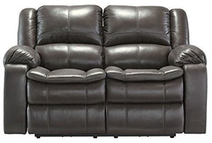 Ashley Furniture Signature Design - Long Knight Loveseat - Manual Recliner - Gray