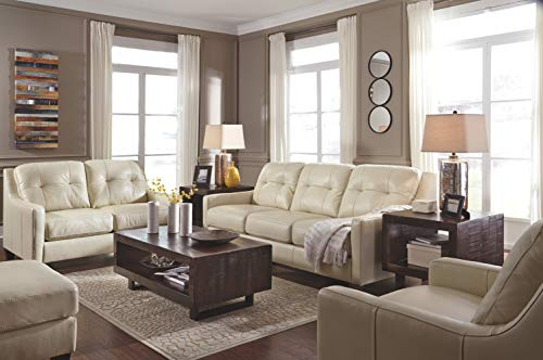 Ashley Furniture Signature Design - O'Kean Upholstered Leather Queen Sleeper Sofa - Contemporary - Galaxy