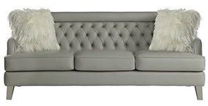 "Homelegance Nevaun Modern Luxurious 83"" Airehyde Leather Sofa, Gray"