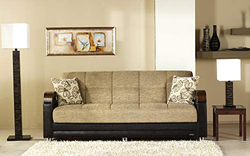 ISTIKBAL Multifunctional Furniture Living Room SOFA SLEEPER Fulya Light Brown LUNA Collection