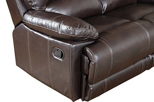 Blackjack Furniture 9345-BROWN-CL The Brantley Collection Leather Console Loveseat for the Living Room, Brown