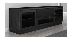 Furnitech FT72CCB-E 70 Inch Contemporary Console, Ebony Finish, 70""