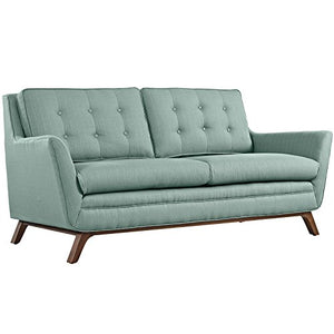 Modway Beguile Mid-Century Modern Loveseat With Upholstered Fabric In Laguna