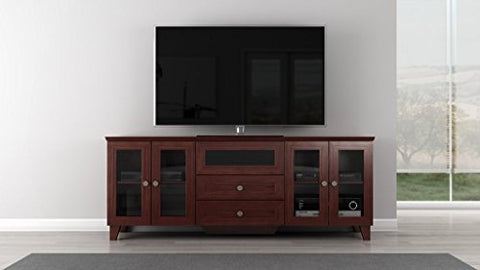 Furnitech 70 inch Shaker Console - (Dark Cherry Finish)