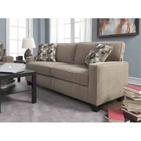 "Sofa in Platinum Color, 78"", Pillowed Back, Hardwood, Living Room Furniture, Bonded Leather, Contemporary Style, Sturdy Design, Bundle with Our Expert Guide with Tips for Home Arrangement"