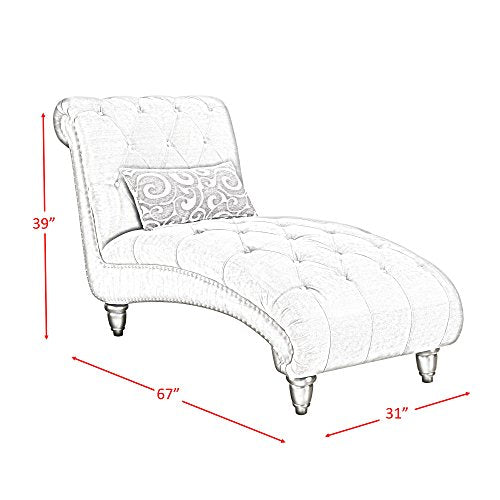 Picket House Furnishings Twine Chaise Lounge with Pillow in Slate Gray