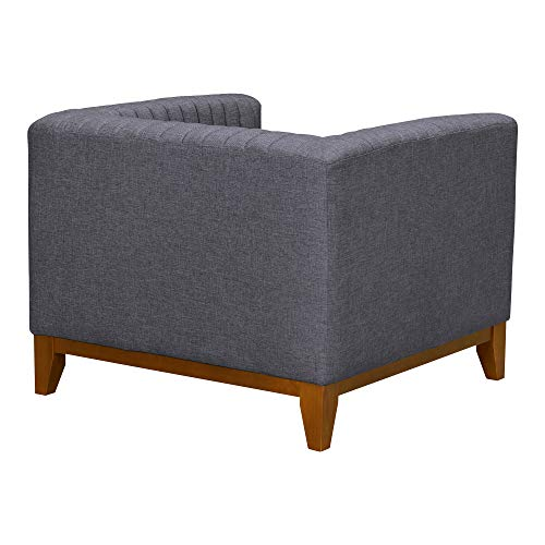 Armen Living LCPS1GR Prism Sofa Chair, Champagne Wood