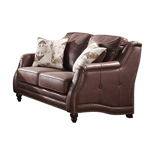Acme Furniture 52066 Nickolas Loveseat, Chocolate