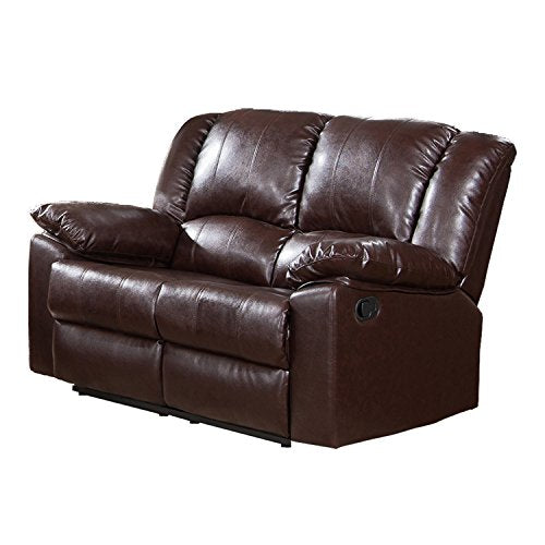 Milton Greens Stars Burgas Reclining Love Seat, 60-Inch by 38-Inch by 40-Inch, Dark Brown