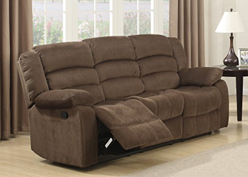 Christies Home Living Bill-Brown-DRS Bill Contemporary Room Reclining Sofa, Brown