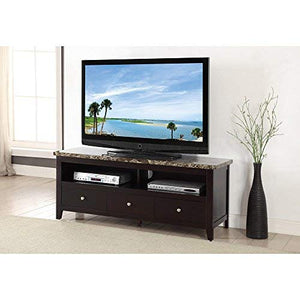 Benzara BM166692 TV Stand, Espresso Brown