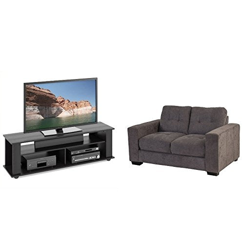 2 Piece Living ROM Set with TV Stand and Loveseat