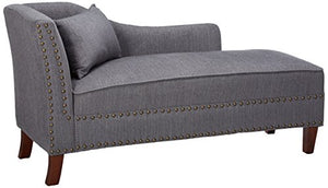 247SHOPATHOME IDF-CE2185GY, Chaise, Gray