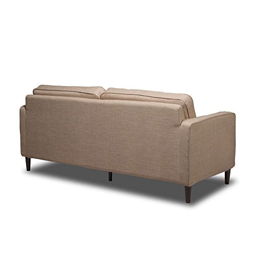 "Buckwheat 66"" Upholstered Sofa, Pocket Coil Seat Cushions, Solid Wood Legs, Hardwood Solids, Metal Seat Frame, Removable Slip Cover, Bundle with Our Expert Guide with Tips for Home Arrangement"