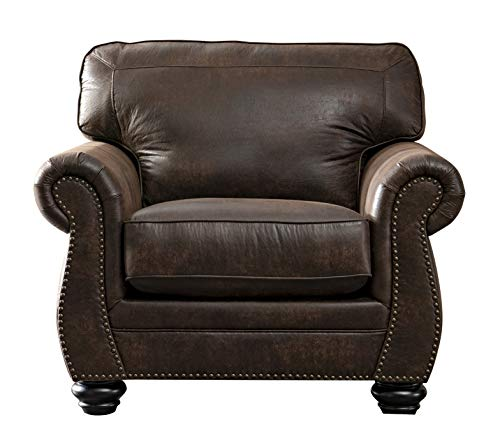 Acanva Contemporary Leathaire Leather Living Room Sofa, Walnut Brown