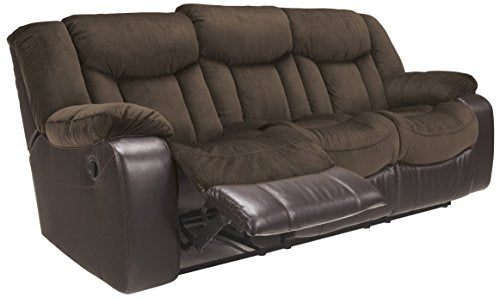 Ashley Furniture Signature Design - Tafton Reclining Sofa - Contemporary Style - Java