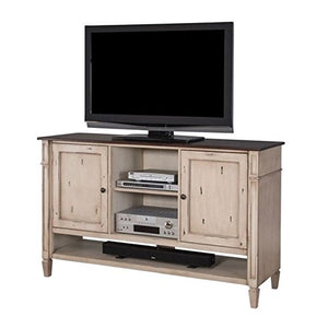 Beaumont Lane Deluxe TV Console in Antique Powder White