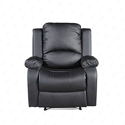 Mecor Bonded Leather Recliner Single Sofa Chair Living Room Furniture,Black