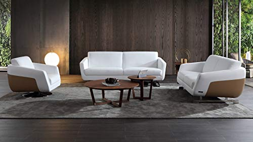Zuri Furniture Modern Armondo Sofa Set With Loveseat And Chair In