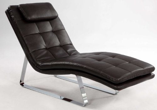 Chintaly Imports Corvette Chaise Lounge in Brown