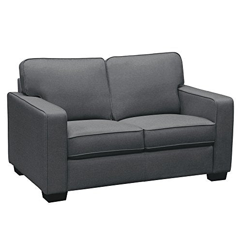 Watson Sofa Loveseat 2PC Set in Dark Grey Fabric , Included SOFA, LOVESEAT by Diamond Sofa - # WATSONSLST