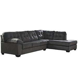 Flash Furniture Signature Design by Ashley Accrington 2-Piece LAF Sofa Sectional in Granite Microfiber