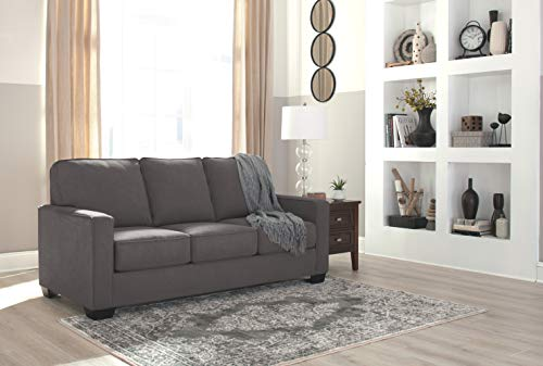 Ashley Furniture Signature Design - Zeb Contemporary Sleeper Sofa - Full Size Mattress Included - Charcoal
