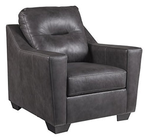 Ashley Furniture Signature Design - Kensbridge Contemporary Leather Armchair - Charcoal
