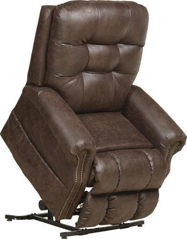 """THE ULTIMATE LIFT CHAIR"" - Catnapper Power Lift - Full Lay Out Recliner with Heat & Massage - Comfort Coil Seating Featuring Comfor-Gel - Comfort Function - Gorgeous Nailhead Trim - 300 lb Capacity"
