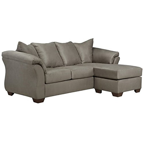 BOWERY HILL Microfiber Right Facing Sectional in Cobblestone