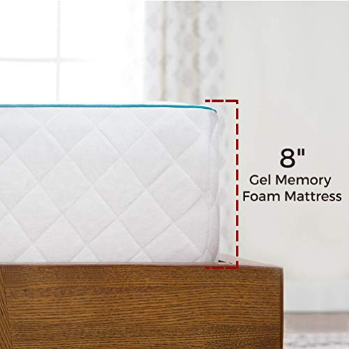 LINENSPA 8 Inch Gel Memory Foam Mattress - Dual-Layered - CertiPUR-US Certified - Medium Firm - 10 U.S. Year Warranty - Cal King Size
