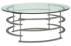 247SHOPATHOME IDF-4359CRM-C Challis Coffee Table, Chrome