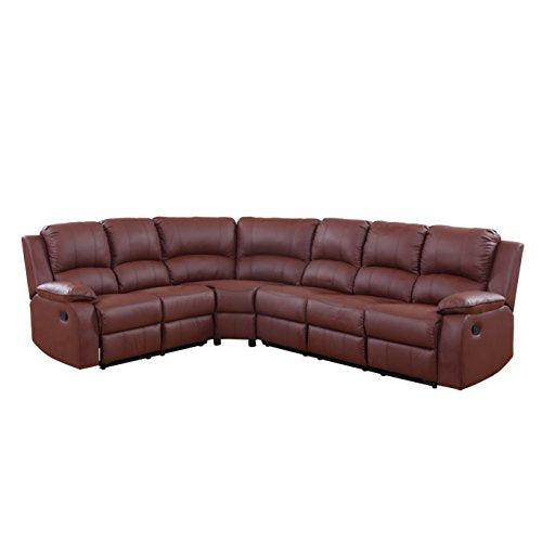 Divano Roma Furniture Large Classic Sofa - Sectional - Traditional - Bonded Leather
