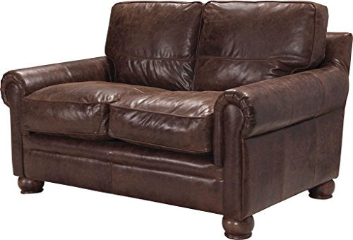 Acme Columbus Loveseat, Vintage Espresso Top Grain Leather Vintage Espresso Top Grain Leather/-