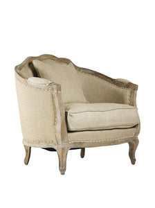 Zentique Maison Love Chair in Limed Grey Oak Jute