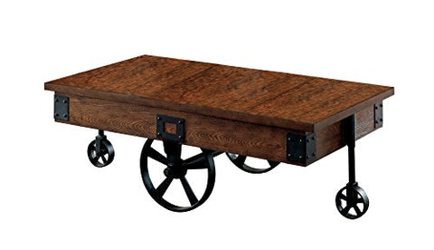 247SHOPATHOME IDF-4319C Clarkston Coffee Table, Weathered Oak