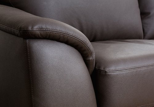 Abbyson Carlisle Leather Loveseat