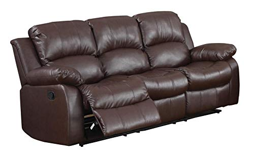 Ciabola Recliner Sofa in Leather - Brown