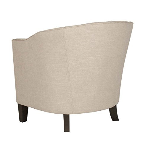 Coja by Sofa4life Paloma Natural Linen Nailhead Club Chair, Beige