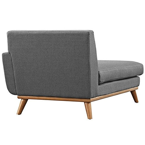 Hawthorne Collections Right Arm Chaise Lounge in Gray