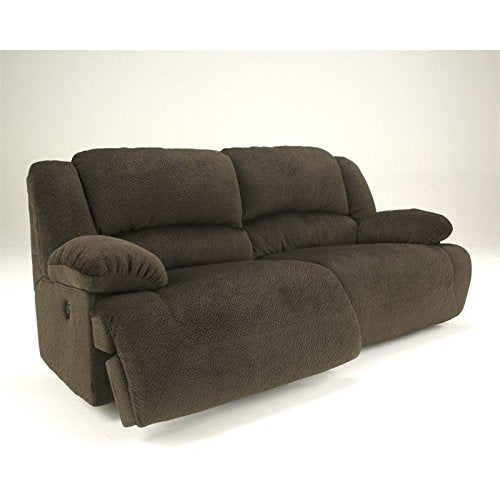 Ashley Furniture Signature Design - Toletta Power Recliner Sofa - 1 Touch Power Reclining - Chocolate Brown