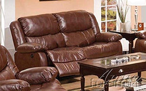 ACME 50201 Fullerton Bonded Leather Loveseat, Brown