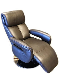 World Source Design Singapore Power Recliner, Top Grain Leather, Brown
