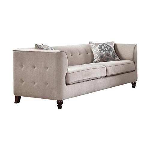 Acme Furniture 52055 Cyndi Sofa, Light Gray