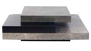 Zuri Furniture Zion Coffee Table - Matte Black