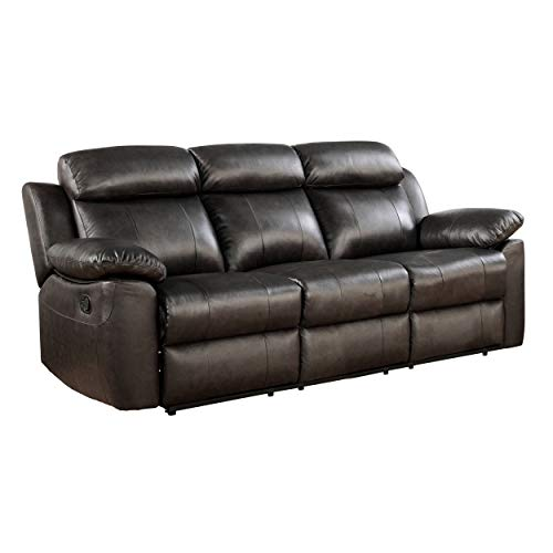 Abbyson Living Top Grain Leather Reclining Sofa
