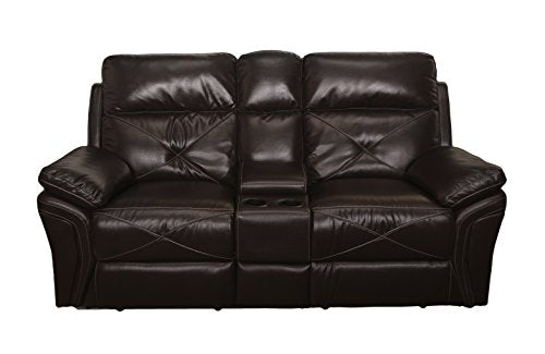 New Classic 22-326-25-SCH Galaxy Console Loveseat, Chocolate