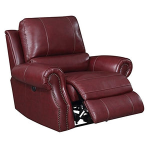 Picket House Furnishings Williams Power Recliner in Wine